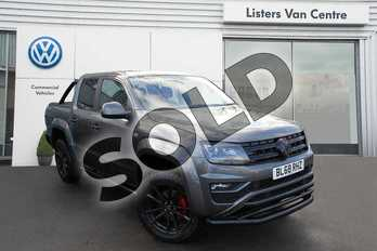 Volkswagen Amarok A33 Diesel D/Cab Pick Up Highline 3.0 V6 TDI 258 BMT 4M Auto in Indium Grey Metallic at Listers Volkswagen Van Centre Coventry