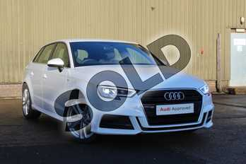 Audi A3 35 TFSI S Line 5dr S Tronic in Glacier White Metallic at Coventry Audi