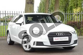 Audi A3 35 TFSI Sport 5dr in Glacier White Metallic at Coventry Audi