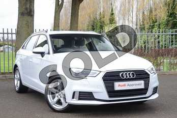 Audi A3 35 TFSI Sport 5dr S Tronic in Glacier White Metallic at Coventry Audi