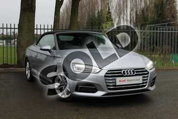 Audi A5 Diesel 2.0 TDI Sport 2dr S Tronic in Floret Silver Metallic at Coventry Audi