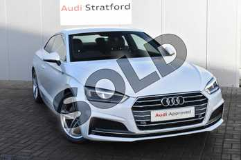Audi A5 Diesel 2.0 TDI S Line 2dr S Tronic in Glacier White Metallic at Coventry Audi