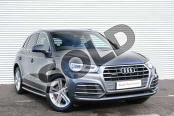 Audi Q5 Diesel 40 TDI Quattro S Line 5dr S Tronic in Daytona Grey Pearlescent at Coventry Audi