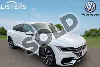 Volkswagen Arteon Diesel Fastback 2.0 TDI R Line 5dr DSG in Pure White at Listers Volkswagen Leamington Spa