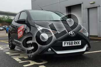 Toyota AYGO 1.0 VVT-i X-Plore 5dr in Bold Black at Listers Toyota Boston