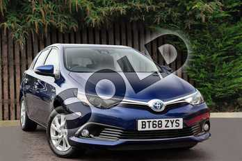 Toyota Auris 1.8 Hybrid Icon Tech TSS 5dr CVT in Orion Blue at Listers Toyota Coventry