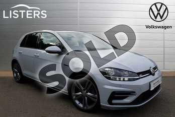 Volkswagen Golf 1.5 TSI EVO 150 R-Line 5dr DSG in WHITE SILVER at Listers Volkswagen Loughborough