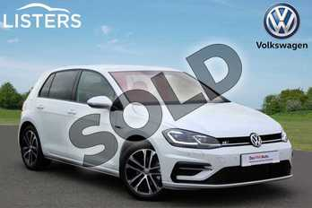 Volkswagen Golf Diesel 2.0 TDI R-Line 5dr DSG in Pure White at Listers Volkswagen Nuneaton