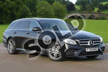 Mercedes-Benz E Class Diesel E220d AMG Line Premium 5dr 9G-Tronic in obsidian black metallic at Mercedes-Benz of Boston