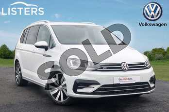 Volkswagen Touran 1.4 TSI R Line 5dr DSG in PURE WHITE at Listers Volkswagen Loughborough