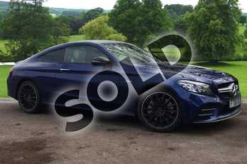 Mercedes-Benz C Class AMG C43 4Matic Premium Plus 2dr 9G-Tronic in brilliant blue metallic at Mercedes-Benz of Grimsby