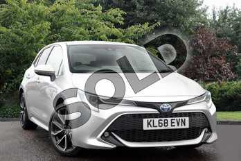 Toyota Corolla 1.8 VVT-i Hybrid Excel 5dr CVT in Silver at Listers Toyota Nuneaton