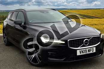Volvo V60 Diesel Sportswagon 2.0 D4 (190) R DESIGN Pro 5dr in 717 Onyx Black at Listers Volvo Worcester