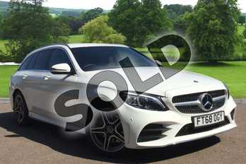 Mercedes-Benz C Class C200 AMG Line Premium 5dr 9G-Tronic in Polar White at Mercedes-Benz of Grimsby