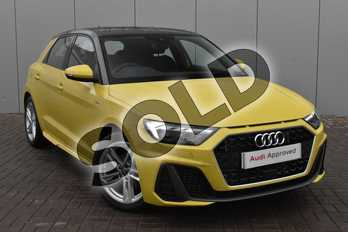 Audi A1 30 TFSI S Line 5dr in Python Yellow Metallic at Stratford Audi