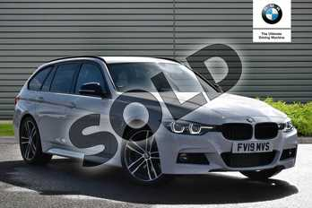 BMW 3 Series Touring Special Edition 320d M Sport Shadow Edition 5dr Step Auto in Alpine White at Listers Boston (BMW)
