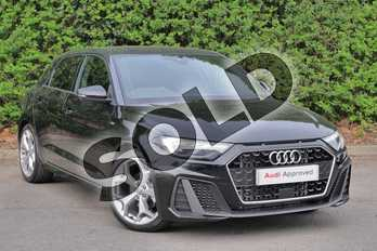 Audi A1 35 TFSI S Line 5dr S Tronic in Myth Black Metallic at Worcester Audi