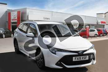 Toyota Corolla Touring Sport 2.0 VVT-i Hybrid Design 5dr CVT in Pure White at Listers Toyota Boston