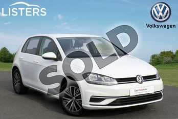 Volkswagen Golf 1.0 TSI 115 SE 5dr in Pure white at Listers Volkswagen Coventry