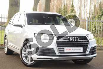 Audi Q7 Diesel 50 TDI Quattro S Line 5dr Tiptronic in Glacier White Metallic at Coventry Audi