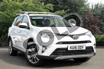 Toyota RAV4 Diesel 2.0 D-4D Excel 5dr 2WD in White at Listers Toyota Nuneaton