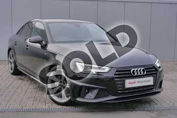 Audi A4 Diesel 35 TDI Black Edition 4dr S Tronic in Myth Black Metallic at Stratford Audi