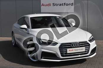 Audi A5 Diesel 35 TDI S Line 5dr S Tronic in Ibis White at Stratford Audi