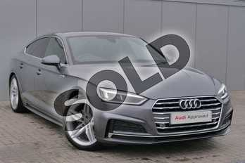 Audi A5 Diesel 35 TDI S Line 5dr S Tronic in Monsoon Grey Metallic at Stratford Audi