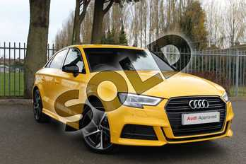 Audi A3 Diesel 35 TDI Black Edition 4dr S Tronic in Vegas Yellow at Coventry Audi