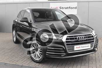 Audi Q5 Diesel 40 TDI Quattro S Line 5dr S Tronic in Myth Black Metallic at Coventry Audi