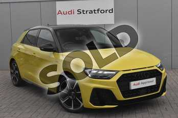 Audi A1 Special Editions 35 TFSI S Line Contrast Edition 5dr S Tronic in Python Yellow Metallic at Stratford Audi