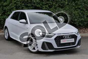 Audi A1 30 TFSI S Line 5dr S Tronic in Glacier White Metallic at Worcester Audi