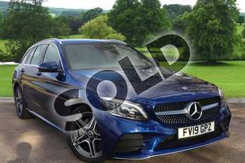 Mercedes-Benz C Class C180 AMG Line Premium 5dr Auto in brilliant blue metallic at Mercedes-Benz of Grimsby