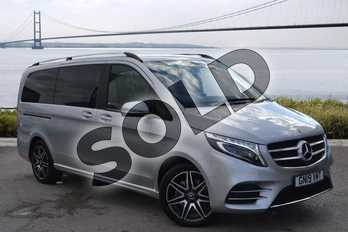 Mercedes-Benz V Class Diesel V220 d AMG Line 5dr Auto (Long) in brilliant silver metallic at Mercedes-Benz of Hull
