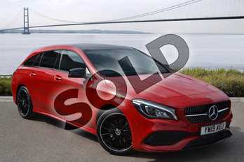 Mercedes-Benz CLA Class Diesel Shooting Brake CLA 220d AMG Line Night Edition 5dr Tip Auto in Jupiter Red at Mercedes-Benz of Hull