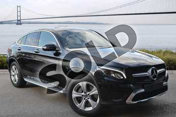 Mercedes-Benz GLC Coupe GLC Diesel GLC 250d 4Matic Sport Premium Plus 5dr 9G-Tronic in obsidian black metallic at Mercedes-Benz of Hull