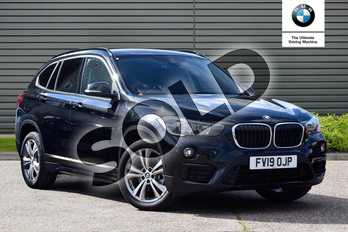 BMW X1 sDrive 18i Sport 5dr Step Auto in Black Sapphire metallic paint at Listers Boston (BMW)