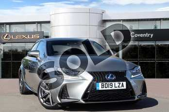 Lexus IS 300h F-Sport 4dr CVT Auto in Sonic Titanium at Lexus Coventry