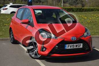 Toyota Yaris 1.5 Hybrid Icon Tech 5dr CVT in Red at Listers Toyota Lincoln