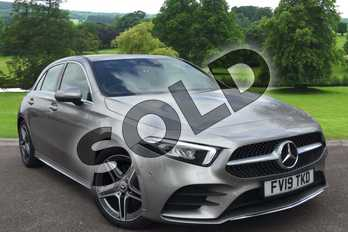 Mercedes-Benz A Class Diesel A200d AMG Line Premium 5dr Auto in Mojave Silver Metallic at Mercedes-Benz of Grimsby