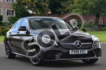 Mercedes-Benz C Class Diesel C220d AMG Line Premium 4dr 9G-Tronic in obsidian black metallic at Mercedes-Benz of Lincoln