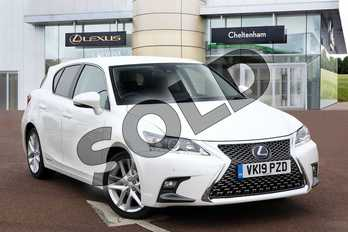 Lexus CT 200h 1.8 5dr CVT in Sonic White at Lexus Cheltenham