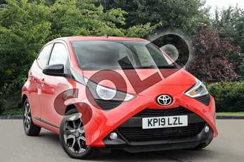 Toyota AYGO 1.0 VVT-i X-Trend 5dr x-shift in Red at Listers Toyota Nuneaton