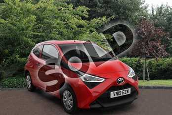 Toyota AYGO 1.0 VVT-i X 3dr in Red at Listers Toyota Stratford-upon-Avon