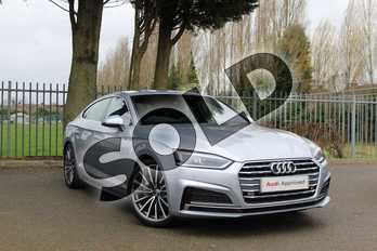 Audi A5 Diesel 40 TDI S Line 5dr S Tronic in Floret Silver Metallic at Coventry Audi
