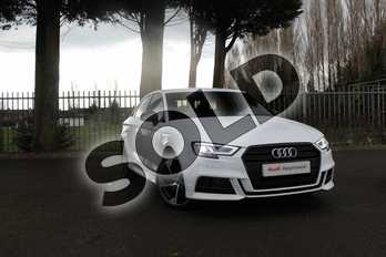 Audi A3 Diesel 30 TDI 116 Black Edition 4dr in Ibis White at Coventry Audi