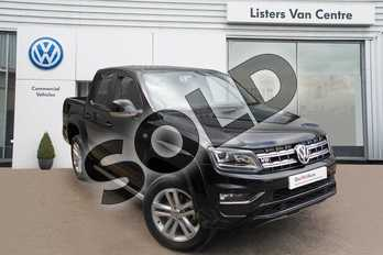 Volkswagen Amarok A33 Diesel D/Cab Pick Up Highline 3.0 V6 TDI 258 BMT 4M Auto in Deep Black Pearlescent at Listers Volkswagen Van Centre Coventry
