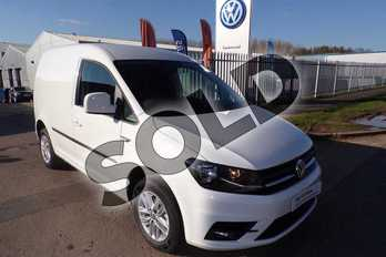 Volkswagen Caddy C20 Diesel 2.0 TDI BlueMotion Tech 102PS Highline Nav Van in Candy White  at Listers Volkswagen Van Centre Worcestershire