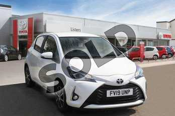 Toyota Yaris 1.5 VVT-i Icon Tech 5dr in Pure White at Listers Toyota Boston