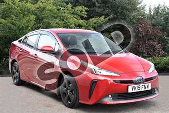 Toyota Prius 1.8 VVTi Business Edition 5dr CVT in Red at Listers Toyota Stratford-upon-Avon